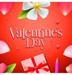 Valentines day background holidays gift and heart vector