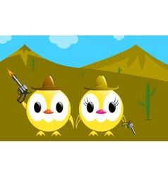 Cowboys chickens vector