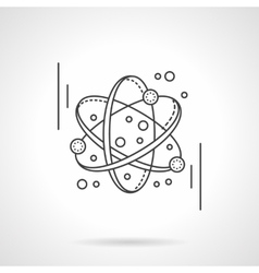 Molecule model flat line design icon vector