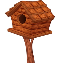 Cartoon of bird house vector