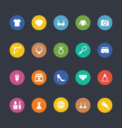 Glyphs colored icons 44 vector