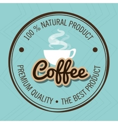 Guarantee label coffee isolated icon design vector