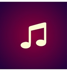 Music flat simple icon isolated vector