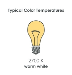 Typical color temperature of bulb vector