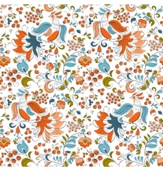 Firebirds and currant in russian fentesy style vector