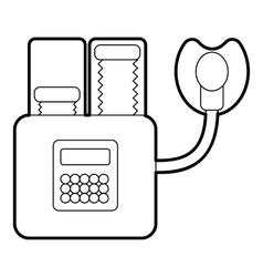 Apparatus for artificial respiration icon vector