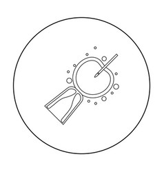 Artificial insemination icon in outline style vector