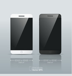 Black and white smart phone isolated vector