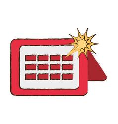 Calendar april fools image vector