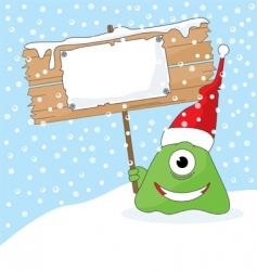 Christmas monster vector