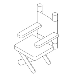 Cinema director chair icon isometric 3d style vector