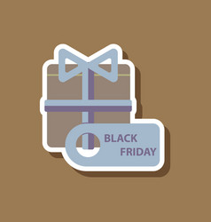 fashion patch sale sticker gift box black friday vector image vector image