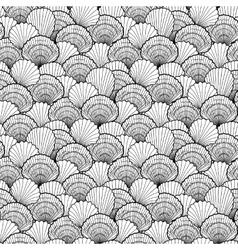 Graphic seashells pattern vector image