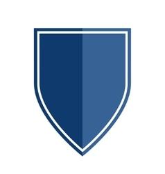 Heraldic shield shape emblem vector image