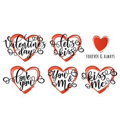Inspirational posters set for valentines day vector