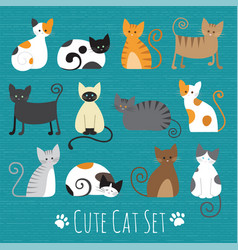 meaw set vector image vector image
