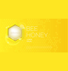 modern poster for sale of honey template for vector image vector image