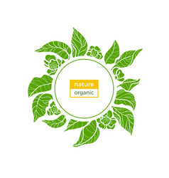 nature template green vector image vector image