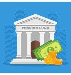 Pension fund concept in flat vector