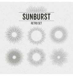 Set of Retro Sun burst shapes vector image