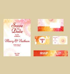 set of wedding invitations wedding cards template vector image