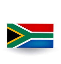 South African Flag vector image