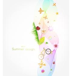 Summer background vector