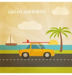 Summer vacation tourism vector image vector image