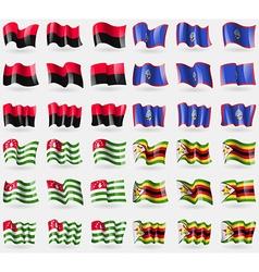 Upa guam abkhazia zimbabwe set of 36 flags of the vector