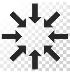 Collapse arrows icon vector