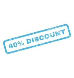 40 percent discount text rubber stamp vector