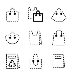 Shopping bag icon vector