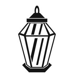 Arabic lantern icon simple style vector