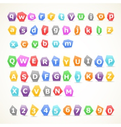 Set of colorful letters vector