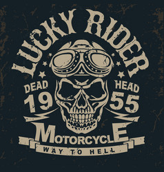 Motorcycle t-shirt graphics vector