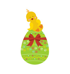 Chicken on the egg vector