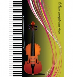 Violin and piano vector