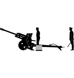 Cannon army crew vector