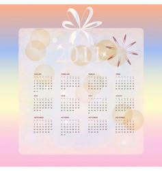 wedding calendar for 2011 vector image