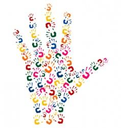 hand brush vector image