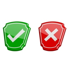 Yes or no 3d icons vector