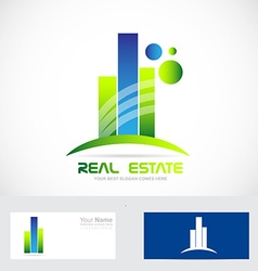 Real estate icon logo vector