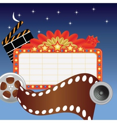 Movie marque vector