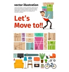 Moving into new apartment infographics vector