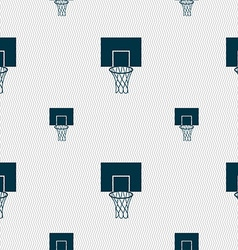 Basketball backboard icon sign seamless pattern vector