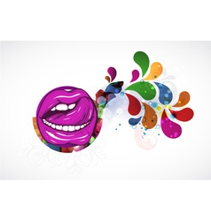 Mouth with colorful swirls vector