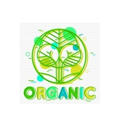Organic Concept background with abstract tree vector image