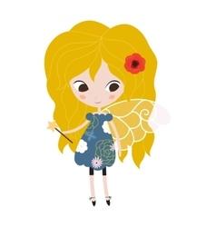 A cute spring fairy in flight vector