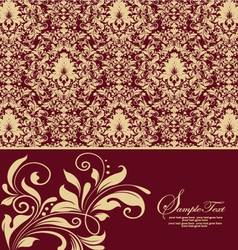 Elegant vintage damask invitation card vector