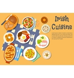 Nourishing meaty irish dishes for dinner menu icon vector
